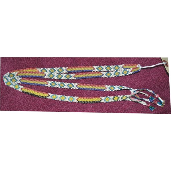 Pit River beaded 1914 necklace