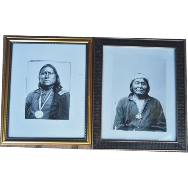6 framed Smithsonian reproduction Indian photos