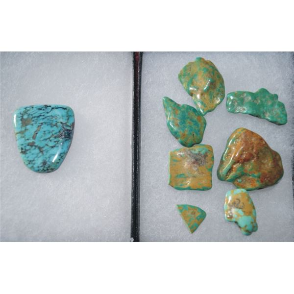 130 carets of Tyrone turquoise