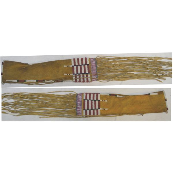 Arapaho style beaded & quill pipe bag