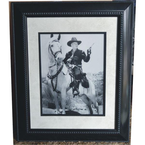 framed Hoppalong Cassidy print