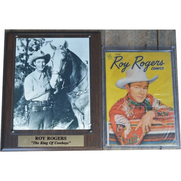 Roy Rogers signed photo and a 1948 #1 comic book