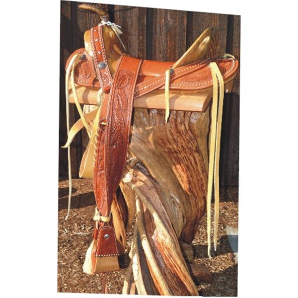 Bub Warren, Franklin Saddlery, high quality, beautifully tooled Mexican saddle