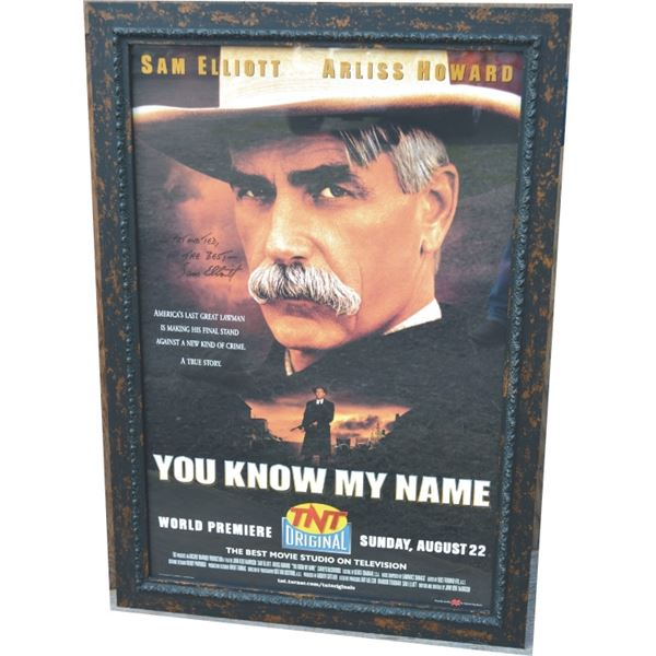 signed Sam Elliot TV poster, You Know My Name