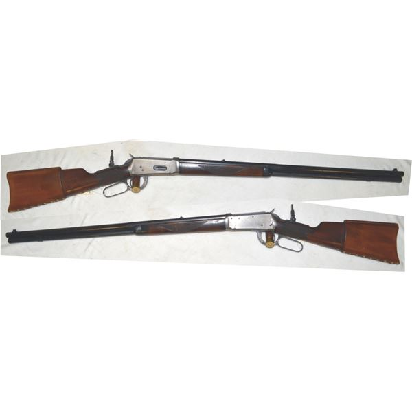 Winchester 1894 30.30 half octagon barrel rifle with tang sight, mfg 1909 #48037