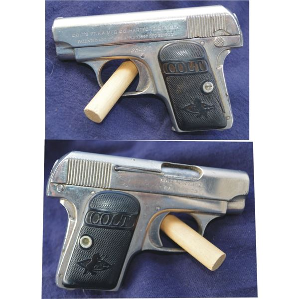Colt model 1903 vest pocket .25 #2542,nickel plated semi auto,very good condition