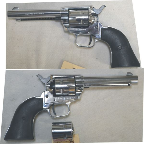FIE .22 & .22 mag has 2 cyclinders, nickel plated revolver #TR46692