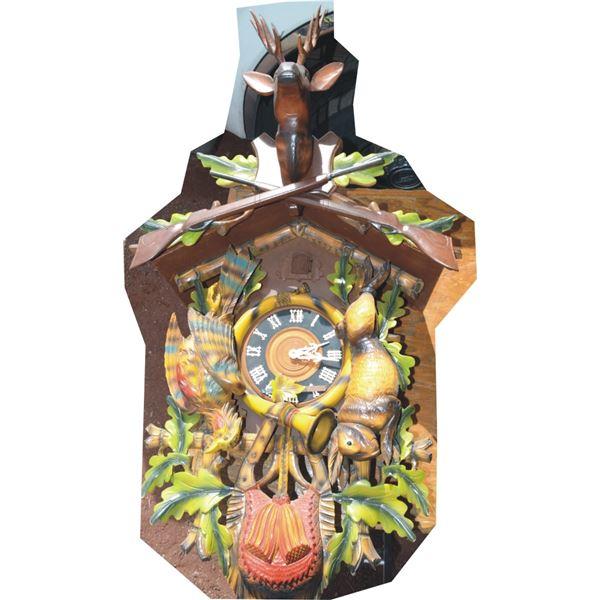 Black Forest large ornate coo coo clock