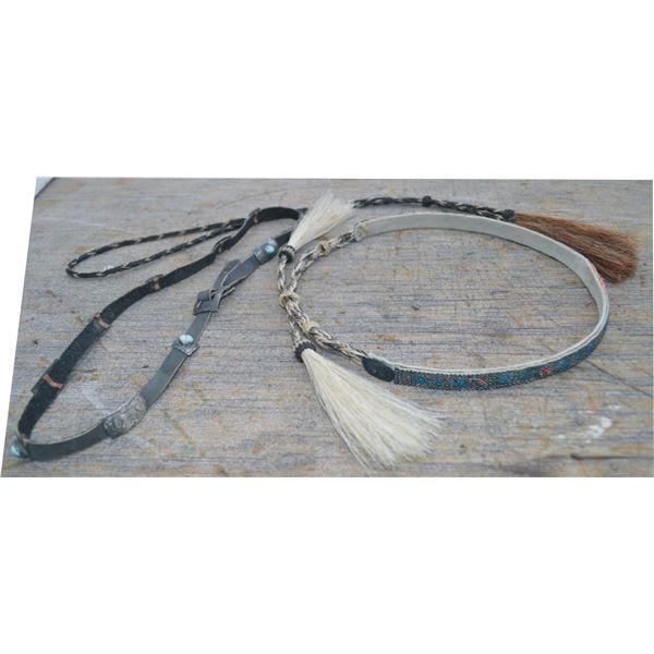 horse hair & beaded hat band