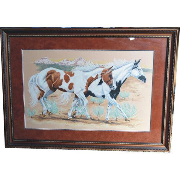 Sandy Klein framed print of paint horses
