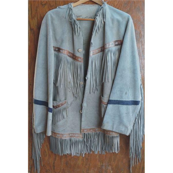 Western Costume Co fringed leather coat