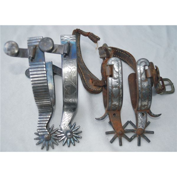 2 pairs of spurs