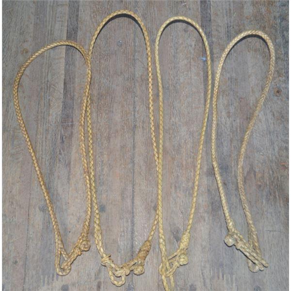 4 unusual rawhide braided neck ropes
