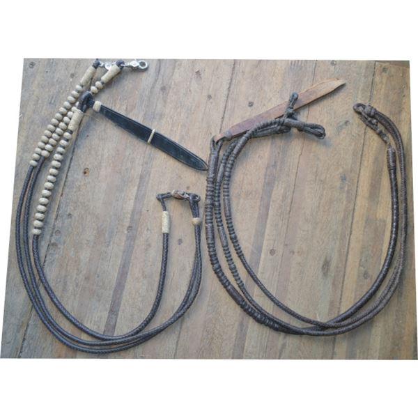 latigo braided rommel reins