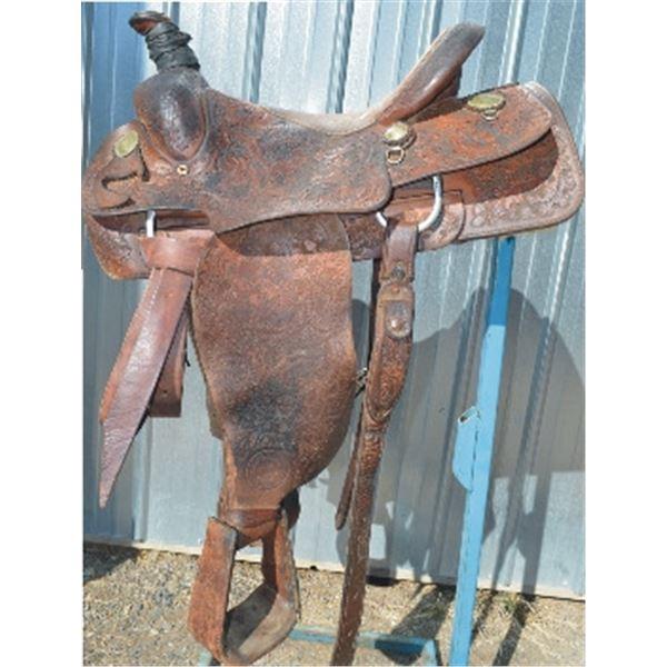 Harry Thurston tooled saddle