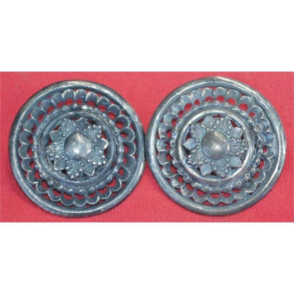 2 inch silver filigree conchos
