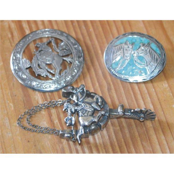 3 silver pins