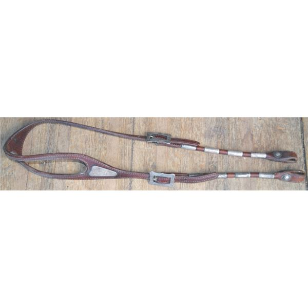 Diablo silver mounted headstall