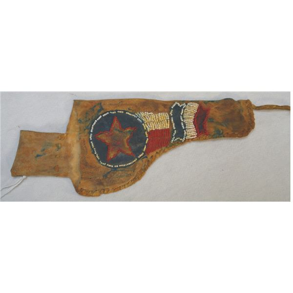 circa 1910 beaded holster marked 101