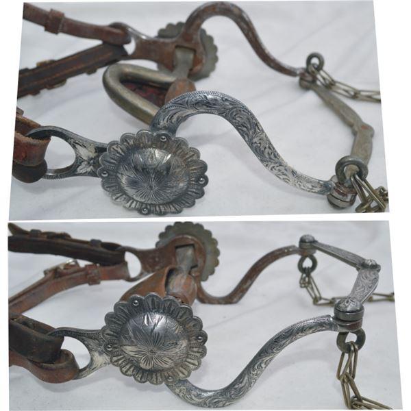 Garcia Saddlery silver overlaid s shank bit