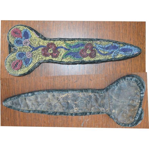 1870-80's Cree beaded scissor bag