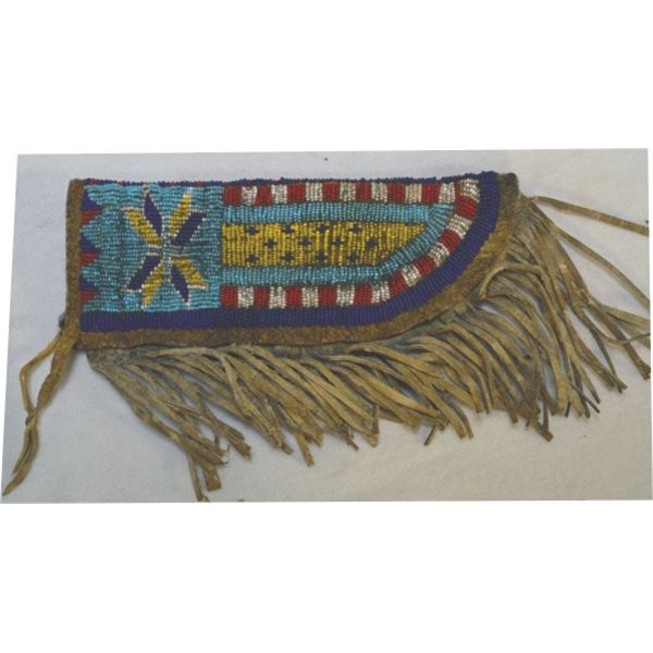 early beaded knife scabbard