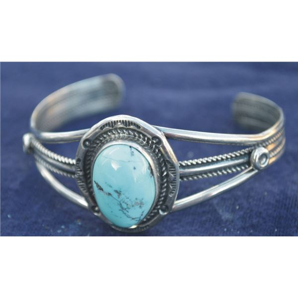 B. Jimiez silver & turquoise bracelet