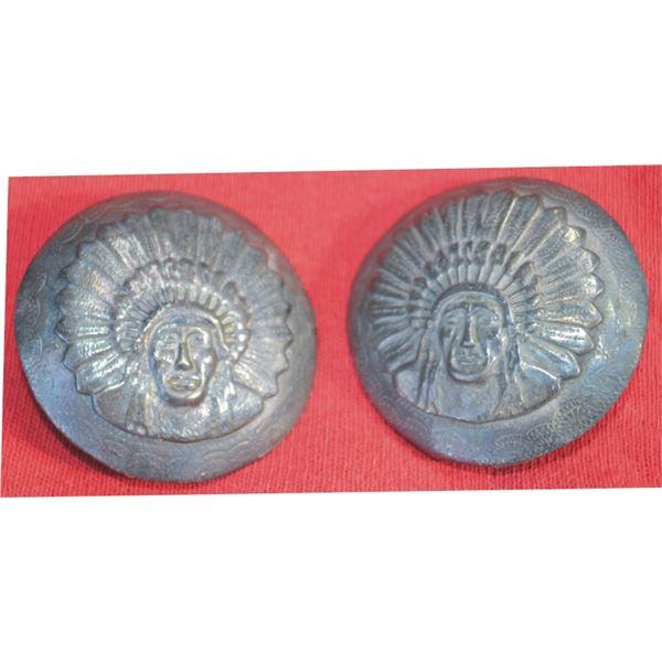 Indian head silver conchos