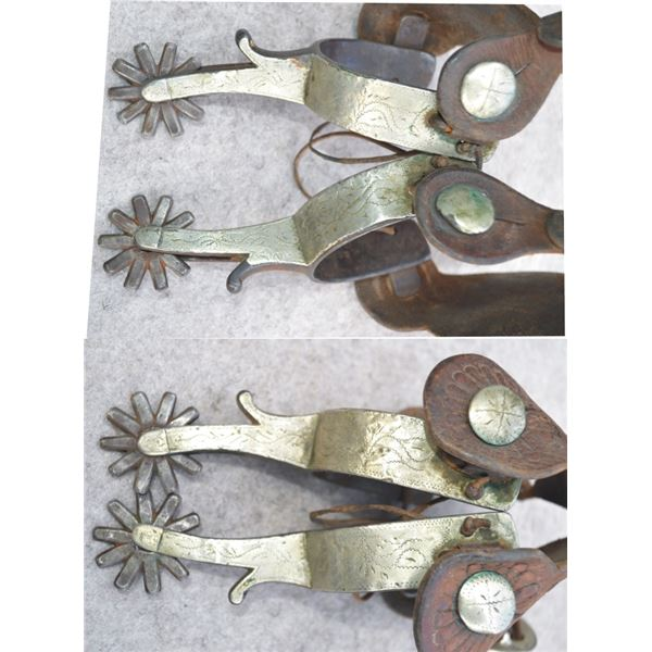 O Crockett double mounted full overlaid spurs