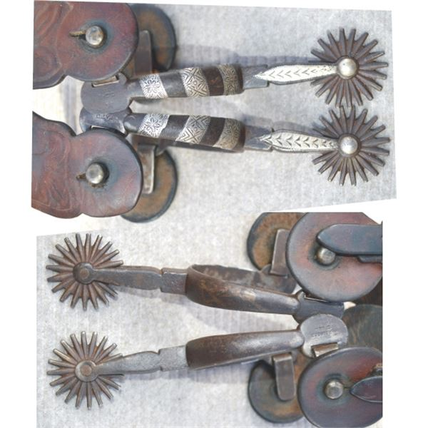 early Buermann silver inlaid spurs