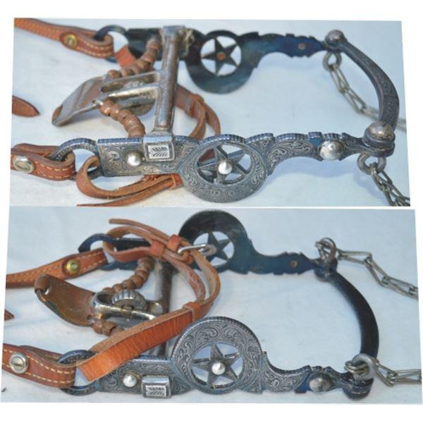 Fleming silver inlaid Elko star spade