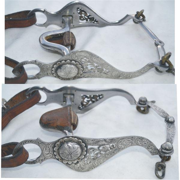 silver overlaid filigree bit