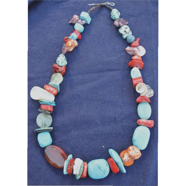 nice multi stone south west necklace