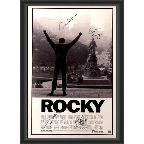 Signed Rocky Movie Poster