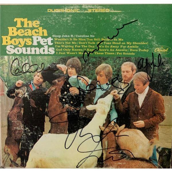 Signed Beach Boys Pet Sounds Album Cover