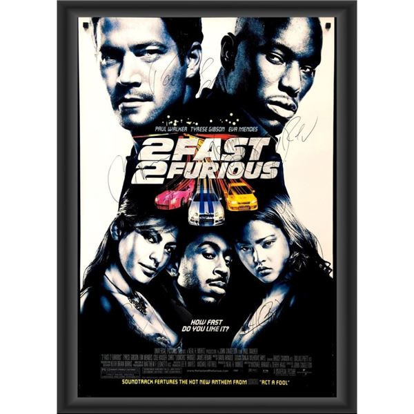 Signed 2Fast 2Furious Movie Poster