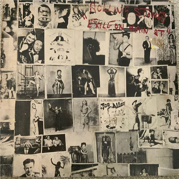 Signed The Rolling Stones, Exile On Main St Album Cover