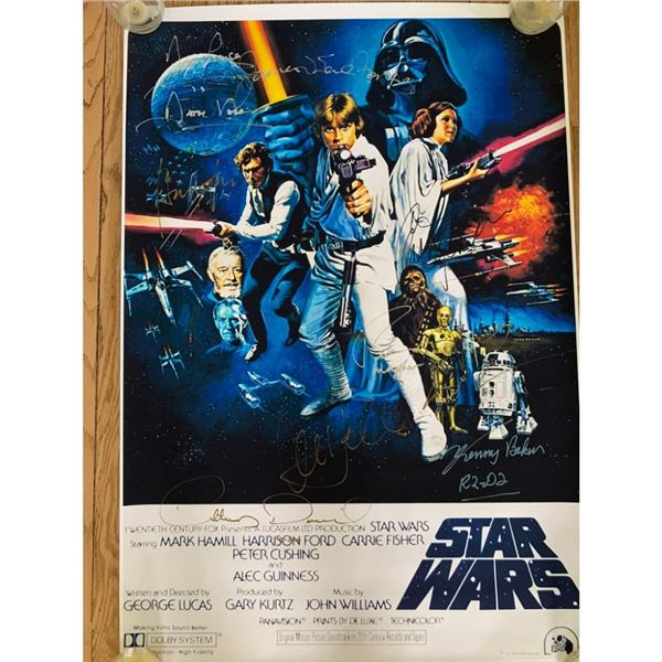 Signed Star Wars Movie Poster