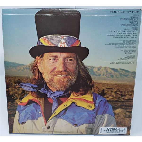 Signed Willie Nelson Stardust Album Cover
