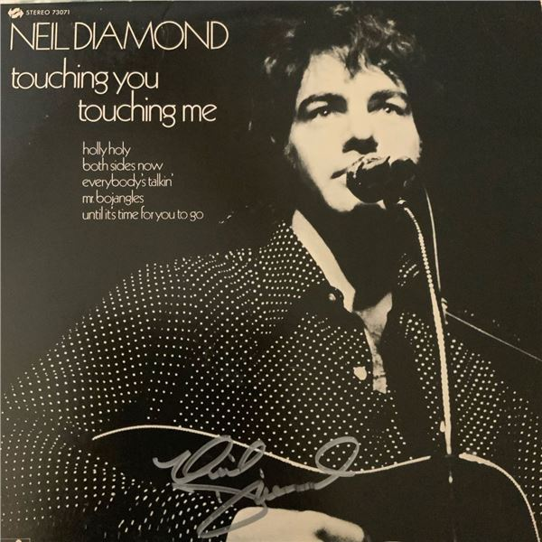 Signed Neil Diamond Touching You Touching Me Album Cover