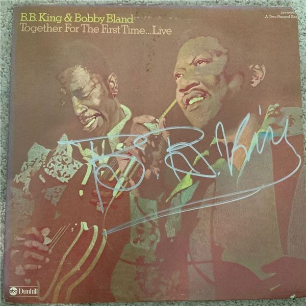 Signed BB King & Bobby Bland Together For the First Time Album Cover