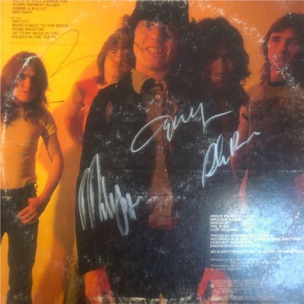Signed AC/DC Powerage Album Cover