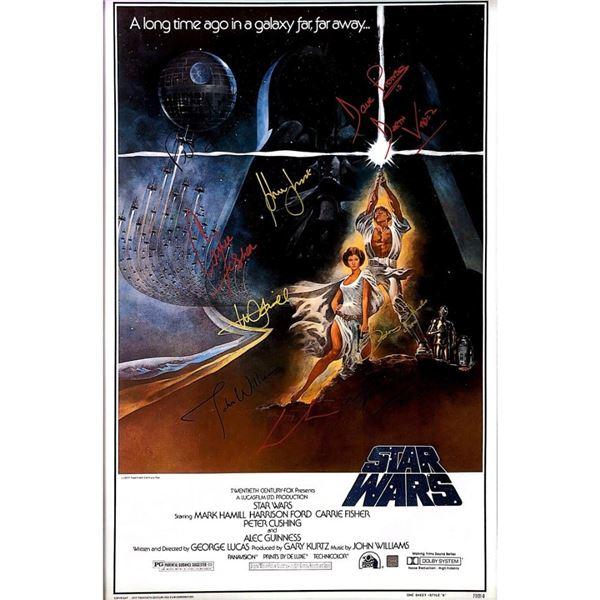 Signed Star Wars: A New Hope (Luke Lightsaber) Movie Poster