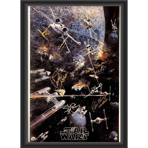 Signed and Framed Star Wars Movie Poster