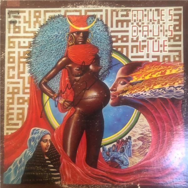 Signed Miles Davis Live Album Cover
