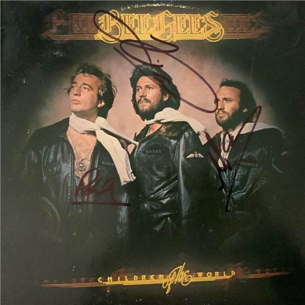 Signed Bee Gees Children Of The World Album Cover