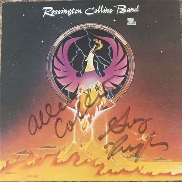 Signed Rossington Collins Band Anytime Anyplace Anywhere Album