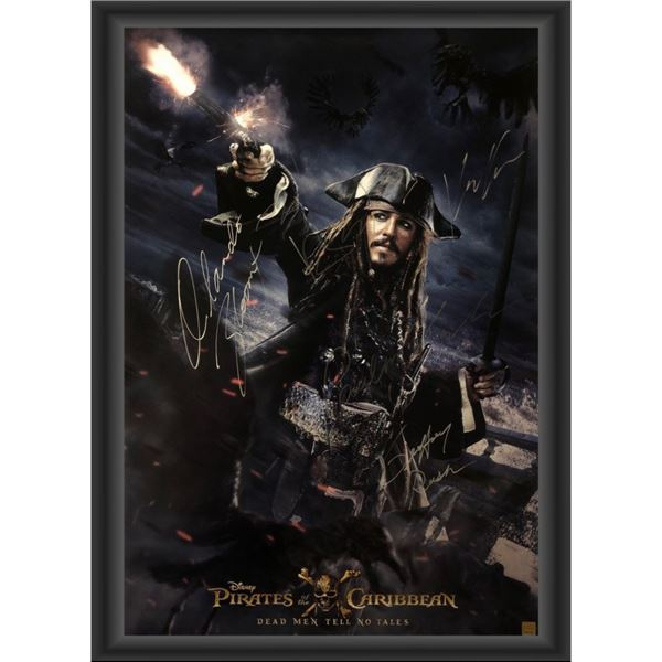 Signed Pirates of the Caribbean: Dead Men Tell No Tales Movie Poster