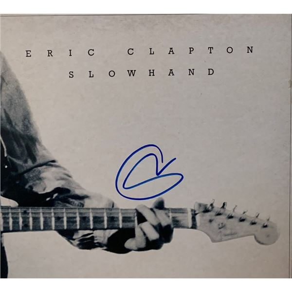 Signed Eric Clapton Slowhand Album Cover