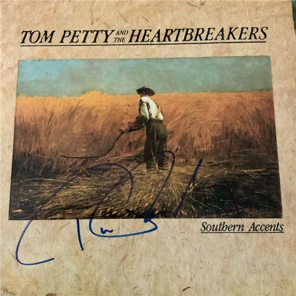 Signed Tom Petty Southern Accents Album Cover